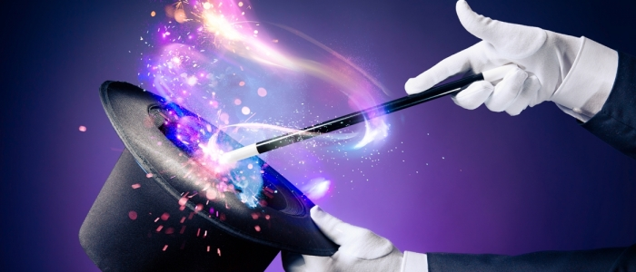 Image of top hat and magic wand