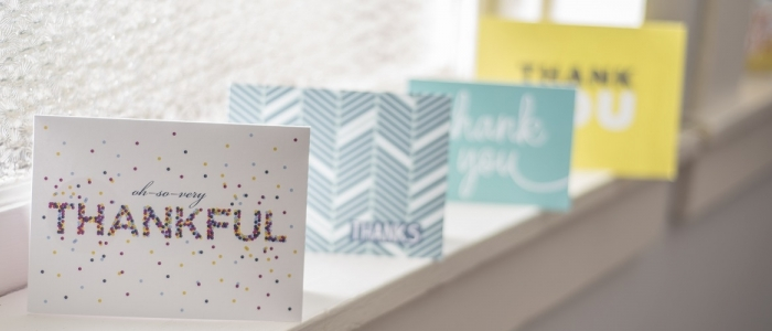 Image of thank you cards
